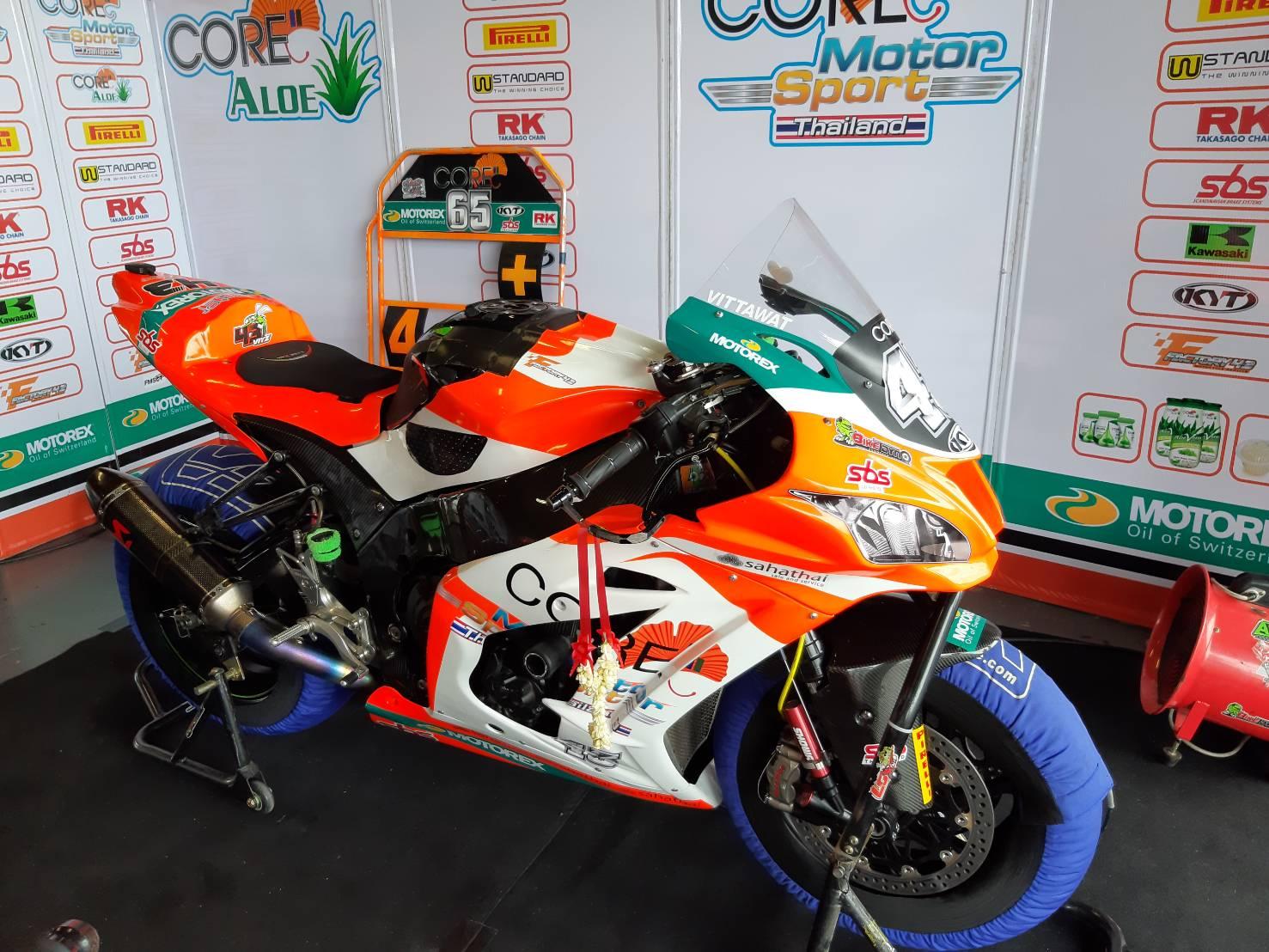 Sunstar ได้เป็น sponsor ให้กับทีม Core motor sports